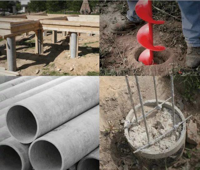 Количество бетона зависит от диаметра трубы