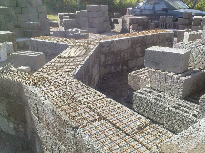 Кладка керамзитобетонных, шлакоблоков блоков