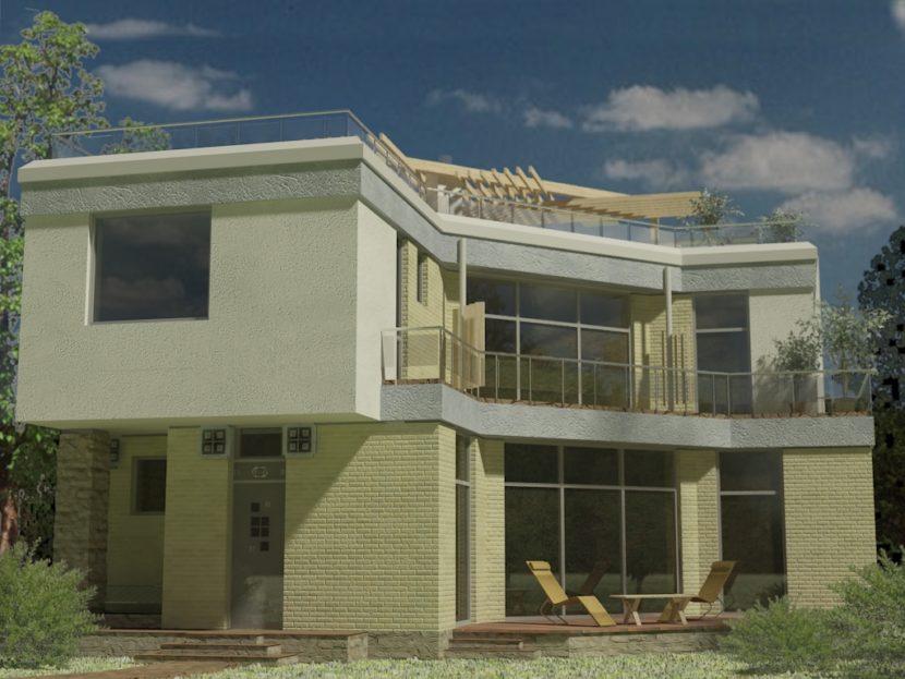 Заливной дом, каркасы из бетона