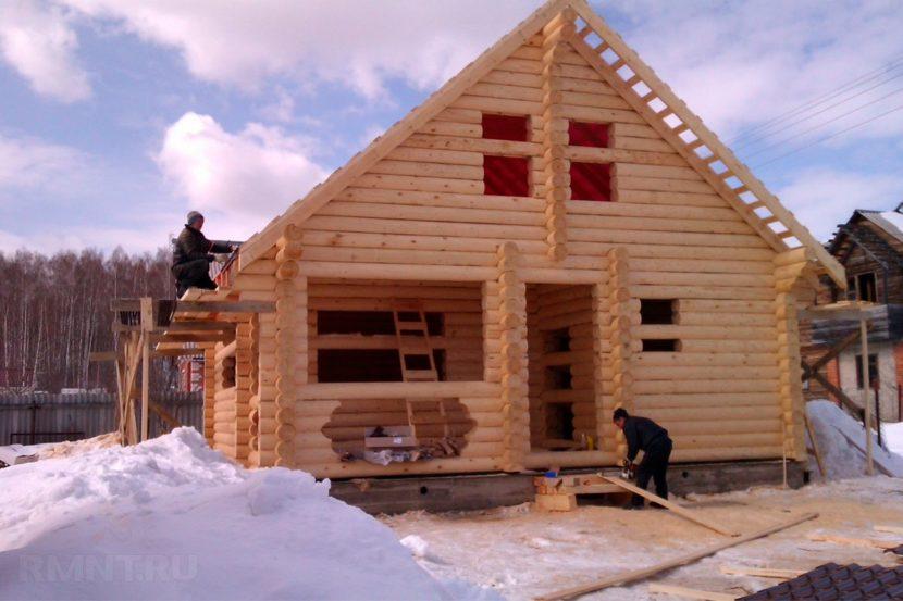 Как строить дом Зимой