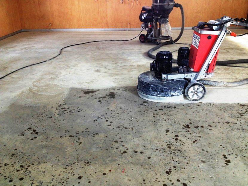 Как шлифуют бетонный пол методы