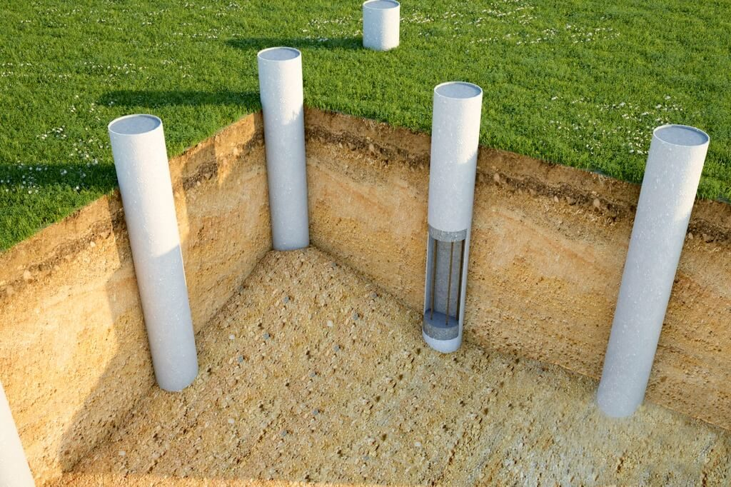 Фундамент из труб для постройки дома