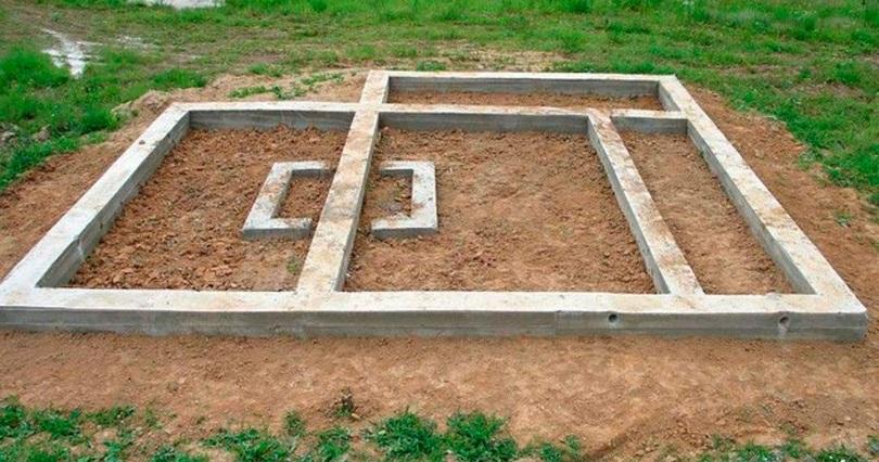 Особенности заливки фундамента под газбетонные блоки