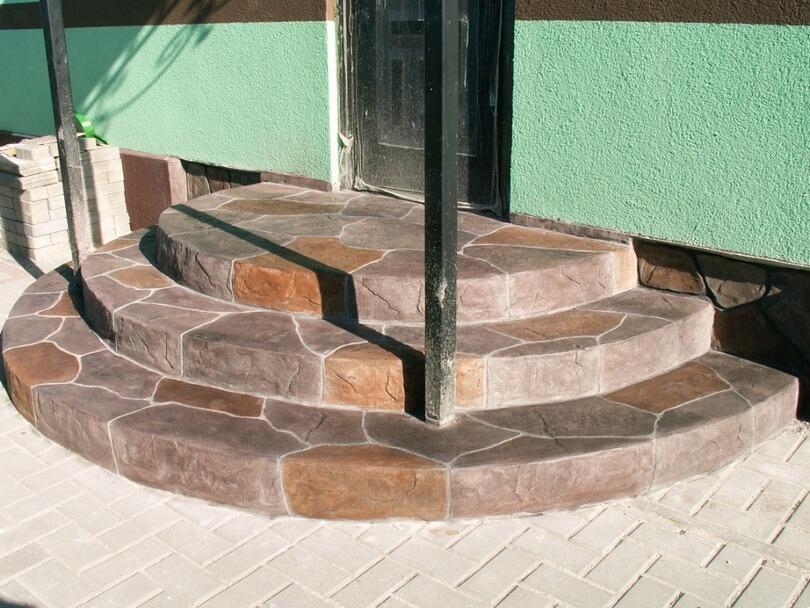 Крыльцо из бетона примеры заливки разных видов